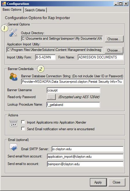 XAP Configuration