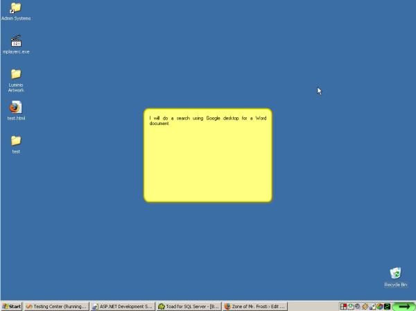 Web Services Screenshot