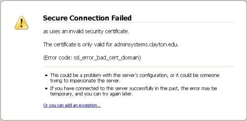 Firefox SSL: Step 1